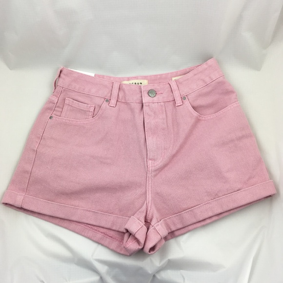 pale pink high waisted shorts